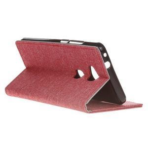 Textilní/koženkové pouzdro na Honor 5X - červené - 6