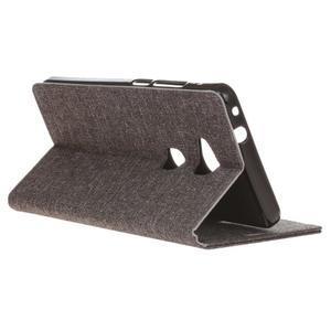 Textilní/koženkové pouzdro na Honor 5X - šedé - 6