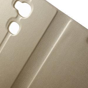 Peněženkové PU kožené pouzdro na mobil Honor 5X - champagne - 6