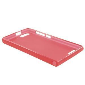 Matné gelové pouzdro na Huawei Ascend G6 - červené - 6