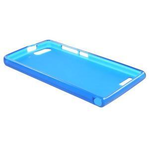 Matné gelové pouzdro na Huawei Ascend G6 - modré - 6