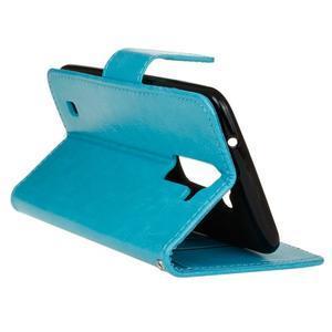 Horse PU kožené pouzdro na LG K10 - modré - 6