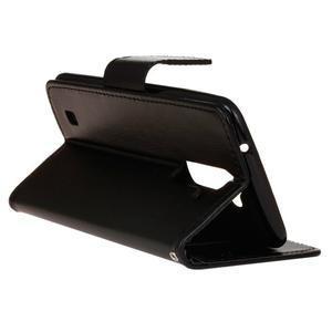 Horse PU kožené pouzdro na LG K10 - černé - 6