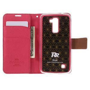 Style PU kožené pouzdro pro LG K10 - rose - 6