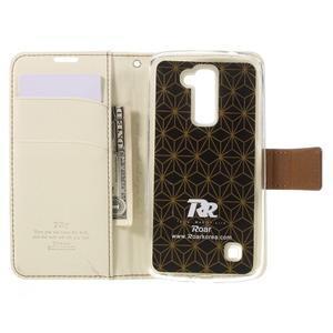Style PU kožené pouzdro pro LG K10 - bílé - 6