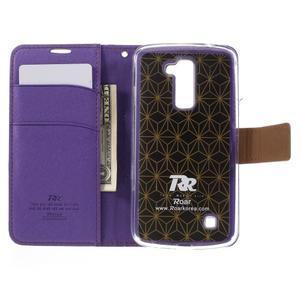 Style PU kožené pouzdro pro LG K10 - fialové - 6
