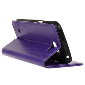 Leat peněženkové pouzdro na LG K4 - fialové - 6