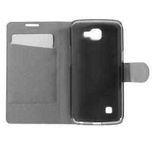 Horse PU kožené pouzdro na mobil LG K4 - bílé - 6