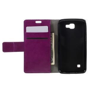 Fialové peněženkové pouzdro na LG K4 - 6