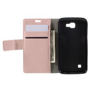 Růžové peněženkové pouzdro na LG K4 - 6