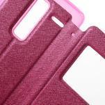 Cross peněženkové pouzdro s okýnkem na LG Zero - rose - 6/7