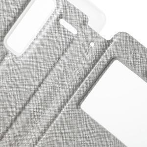 Cross peněženkové pouzdro s okýnkem na LG Zero - bílé - 6