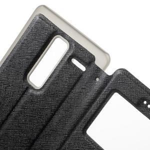 Cross peněženkové pouzdro s okýnkem na LG Zero - černé - 6