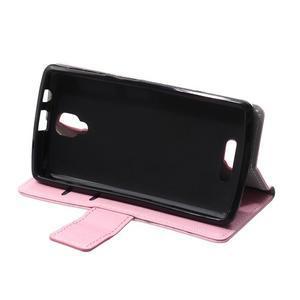 Wallet pouzdro na mobil Lenovo A1000 - růžové - 6
