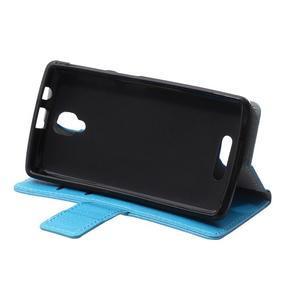 Wallet pouzdro na mobil Lenovo A1000 - modré - 6