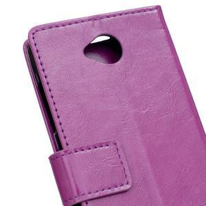 Fold peněženkové pouzdro na Microsoft Lumia 650 - fialové - 6