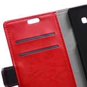 Flag peněnžekové pouzdro pro Microsoft Lumia 650 - červené - 6