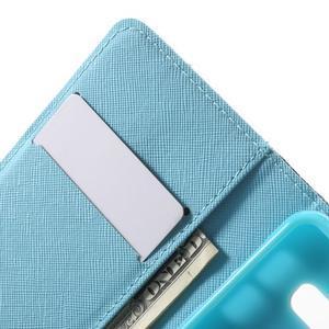 Peněženkové pouzdro na mobil Samsung Galaxy A3 (2016) - modrý motýl - 6