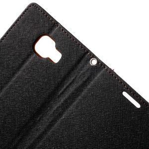 Goospery peněženkové pouzdro na Samsung Galaxy A3 (2016) - černé/hnědé - 6