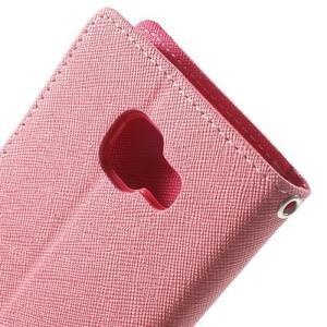 Goospery peněženkové pouzdro na Samsung Galaxy A3 (2016) - růžové - 6