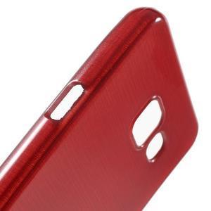 Gelový obal s motivem broušení na Samsung Galaxy A3 (2016) - červený - 6