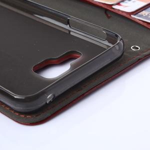 Wallet pouzdro na mobil Samsung Galaxy A3 (2016) - hnědé - 6