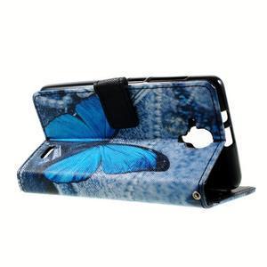 Peněženkové pouzdro na mobil Lenovo A536 - modrý motýl - 6