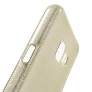 Gelový obal s motivem broušení na Samsung Galaxy A3 (2016) - zlatý - 6