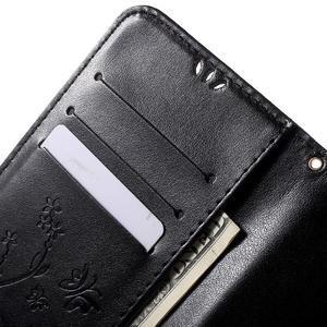 Butterfly peněženkové pouzdro na Microsoft Lumia 535 - černé - 6