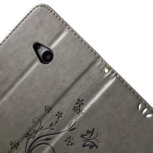 Butterfly peněženkové pouzdro na Microsoft Lumia 535 - šedé - 6