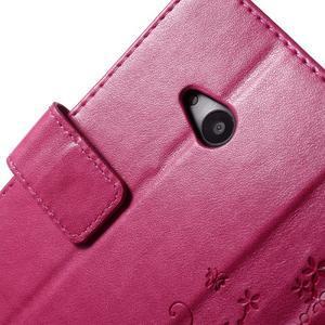 Butterfly peněženkové pouzdro na Microsoft Lumia 535 - rose - 6