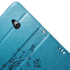 Butterfly peněženkové pouzdro na Microsoft Lumia 535 - modré - 6