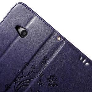Butterfly peněženkové pouzdro na Microsoft Lumia 535 - fialové - 6