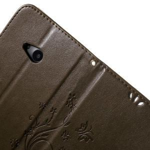 Butterfly peněženkové pouzdro na Microsoft Lumia 535 - coffee - 6