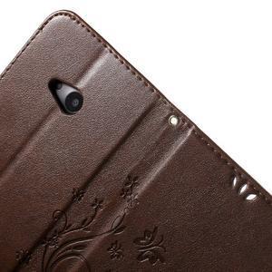 Butterfly peněženkové pouzdro na Microsoft Lumia 535 - hnědé - 6