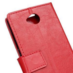Fold peněženkové pouzdro na Microsoft Lumia 650 - červené - 6
