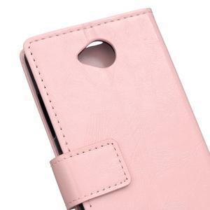 Fold peněženkové pouzdro na Microsoft Lumia 650 - růžové - 6