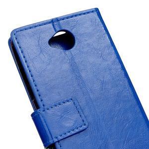 Fold peněženkové pouzdro na Microsoft Lumia 650 - modré - 6