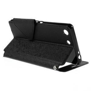 Diary pouzdro s okýnkem na Sony Xperia M5 - černé - 6