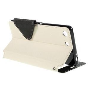Diary pouzdro s okýnkem na Sony Xperia M5 - bílé - 6