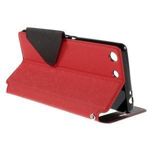 Diary pouzdro s okýnkem na Sony Xperia M5 - červené - 6