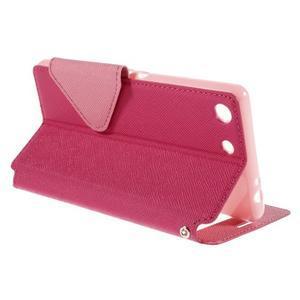 Diary pouzdro s okýnkem na Sony Xperia M5 - rose - 6