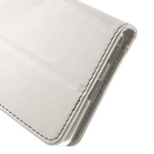 Wall PU kožené pouzdro na mobil Sony Xperia M5 - bílé - 6