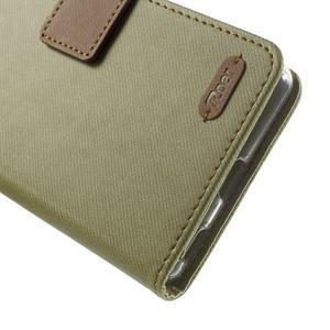 Wall PU kožené pouzdro na mobil Sony Xperia M5 - khaki - 6