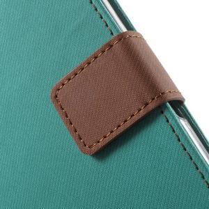 Wall PU kožené pouzdro na mobil Sony Xperia M5 - zelenomodré - 6