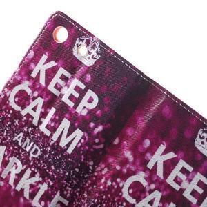 Stand peněženkové pouzdro na Sony Xperia M5 - Keep Calm - 6