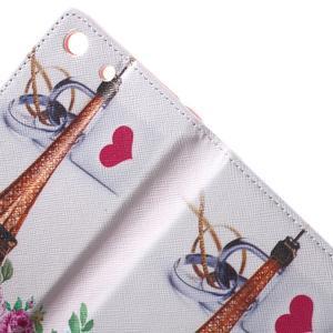 Stand peněženkové pouzdro na Sony Xperia M5 - růže s Eiffelovou věží - 6