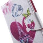 Stand peněženkové pouzdro na Sony Xperia M5 - láska Eiffelka - 6/7