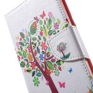 Stand peněženkové pouzdro na Sony Xperia M5 - květinový strom - 6