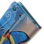 Stand peněženkové pouzdro na Sony Xperia M5 - motýlek - 6/7